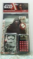 Star Wars 7pc Calculator Set Pencil Eraser Sharpener Birthday Gift School Supply