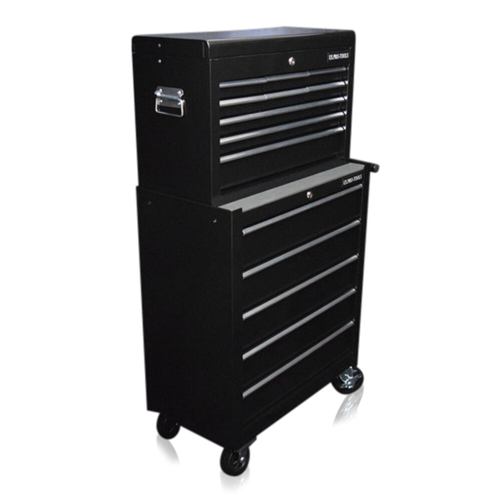337 US PRO TOOLS MECHANICS TOOL TOOL TOOL BOX CHEST 14 BALL BEARING DRAWERS ROLLER CABINET 514f94