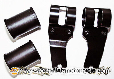 Coppia Reggifaro Cafè Racer Style 32-41mm Black Custom