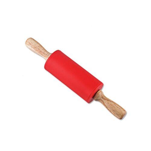 Mini rouleau à pâtisserie manche bois Silicone antiadhésif cuisson pâtisserie pâte rouleau NEUF