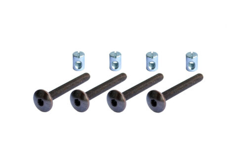 FURNITURE CONNECTION BOLTS with Kloben Round Head M6 x 50 MM-No 6-50 RK-4 4 PCs