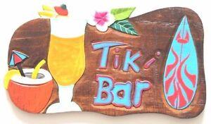 Hawaii Tiki Schild Bar Wandbrett 50 cm Südsee Bali Partykeller Bunt