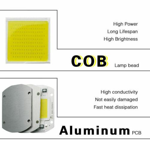 LED COB Chip Flutlicht 10W 20W 30W 50W Smart IC Spectrum Lens Reflector AC 230V