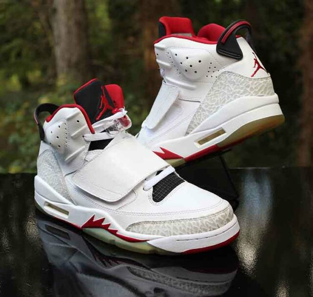 best cheap e5b7c 7ff83 Nike Air Jordan Son of Mars Fire Red White Black 512245-112 Men s Size 10
