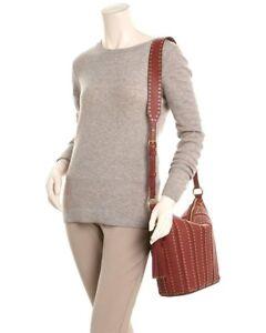 7f6a9a24085c Michael Kors Brooklyn Grommet 30F6ABHL2S Brick Medium Feed Leather Bag