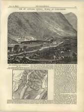 1877 St Gothard Tunnel Works At Goeschenen