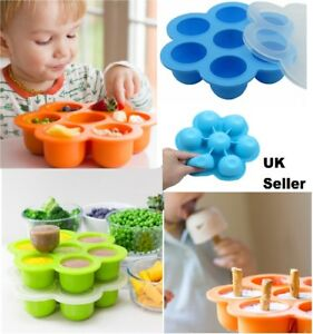 Silicone-Baby-Food-Freezer-Tray-Weaning-Storage-Containers-Food-Mold-Mould-Pan
