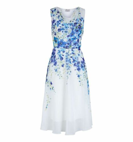Various Sizes Hobbs Painted Delph Ivory Multi Dress RRP £169.
