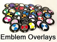 GLOSS BLACK Emblem Cover Badge Roundel Sticker Decal Overlay For BMW 3 Series
