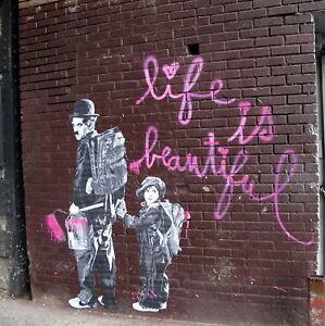 034-Life-Is-Beautiful-034-Charlie-Chaplin-Canvas-Art-Print