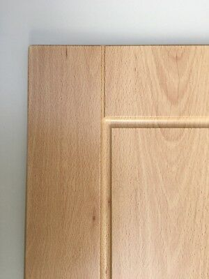 Light Beech Effect Shaker Fitted Kitchen Cupboard Cabinet Doors Drawer Fronts Ebay