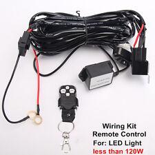 Remote Control Wiring Harness Kit Switch Relay Led Light Bar 120W 24W 36W 18W 2M