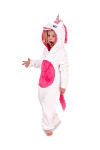 UNICORN Girls Ladies Womans all in one Hooded Fleece gift set pyjamas Mini Me