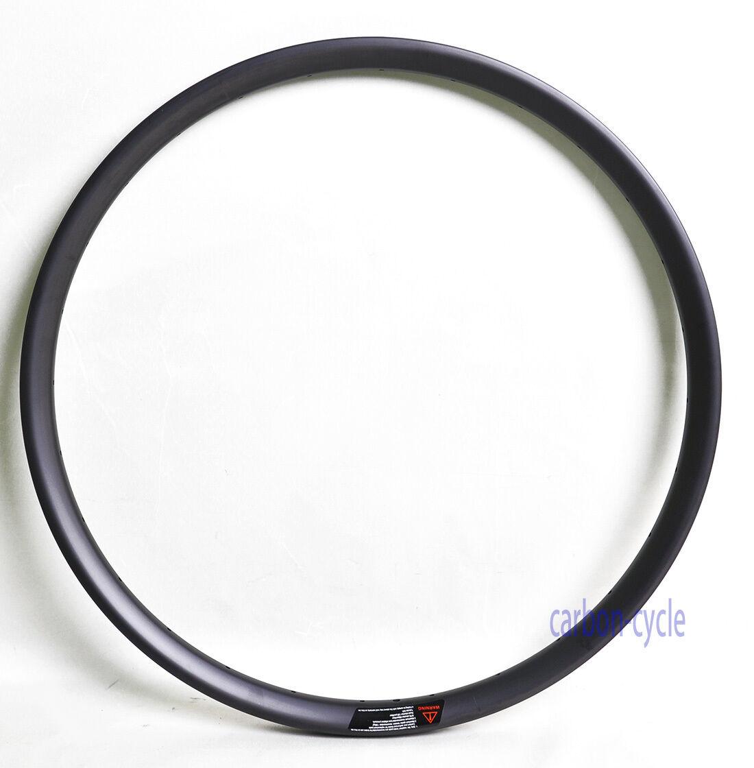 27.5er MTB Wheel Carbon Clincher Rim 35mm UD Matt 28h Tubeless Mountain
