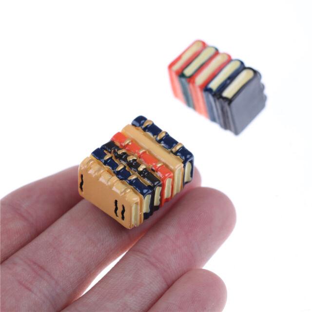 1 Satz von 2 Bücher Dollhouse Miniature DIY Modell für Kinder Geschenk ZubUUM