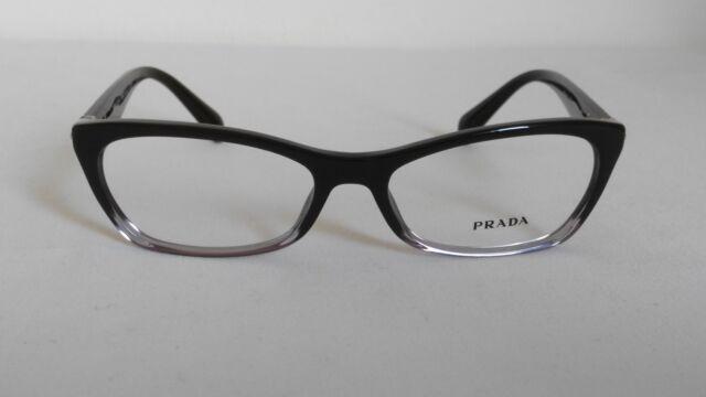 df8026e1e61 PRADA PR15PV ZYY-1O1 Authentic Designer Eyeglasses Glasses Frames Black  Gradient