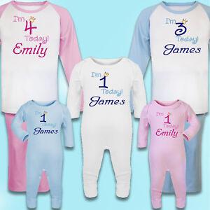 Personnalise-Brode-100-coton-Pyjamas-1st-Anniversaire-Cadeau-Souvenir-PJ-039-S
