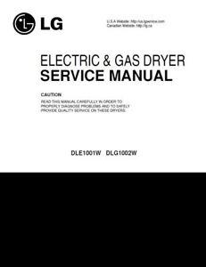 lg dle1001w dlg1002w dryer service manual and repair guide ebay rh ebay com Repair Guy Honda Repair Guide