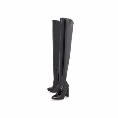 Knee Wolf The 2 Otk Carvela 35 Over Patent Thigh Black Bnwob Boots B6qzB