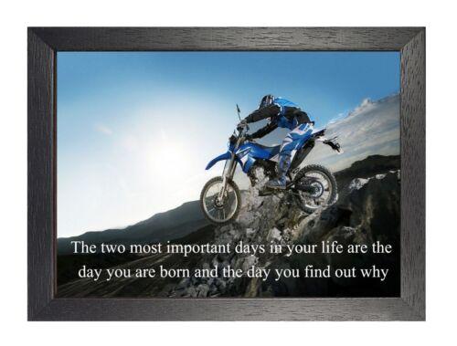 14# Motocross Bike Artwork Motivation Quote Inspirational Print Quality Poster