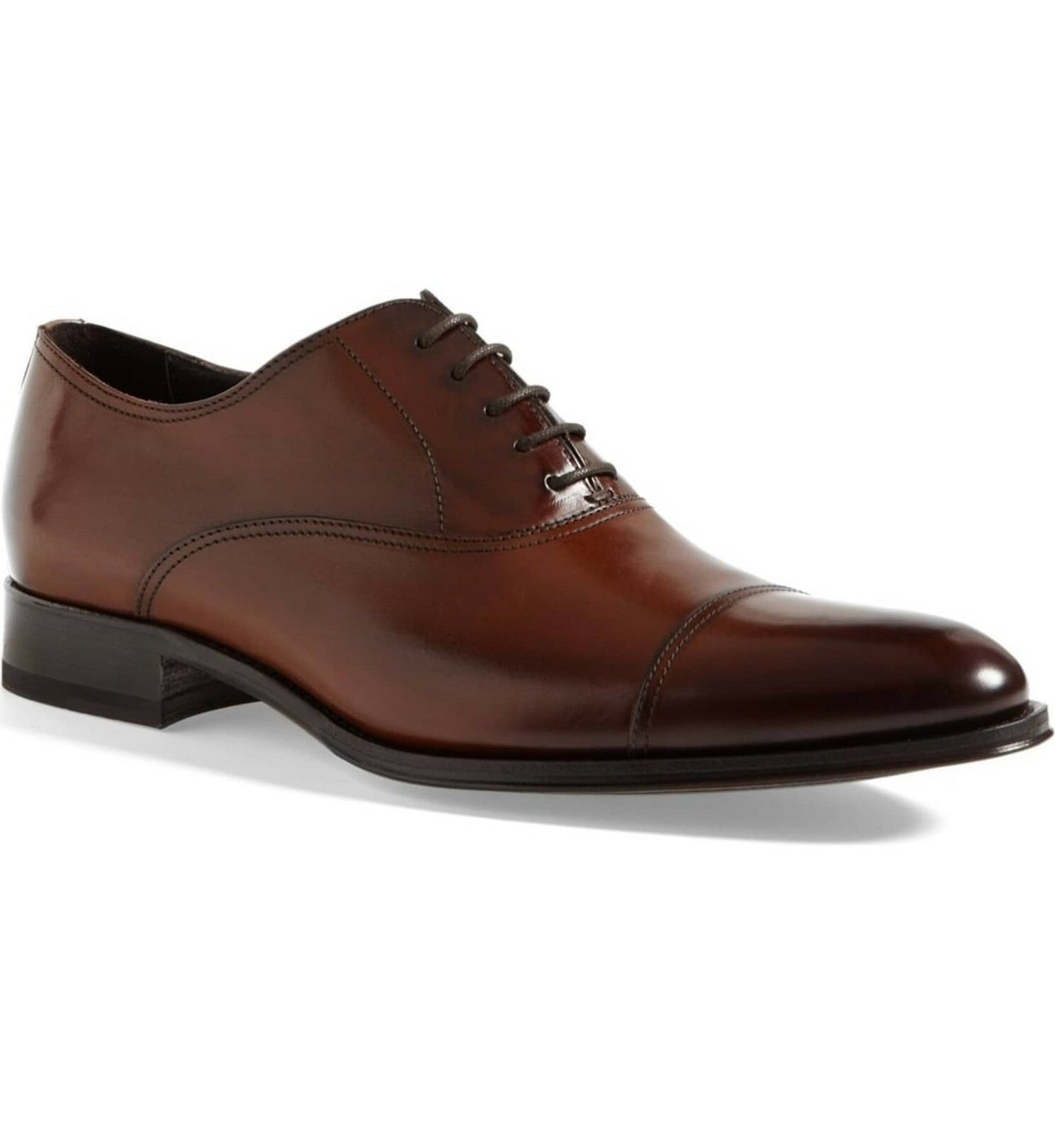 To Boot New York Men's Brandon Cap Toe Oxford Size 8 Cognac Leather MSRP  395