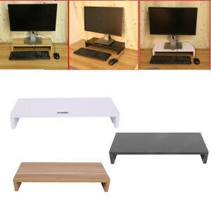 Desktop Monitor Stand Computer Screen Riser Rack Wood