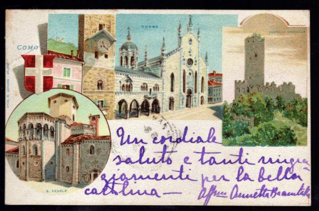 COMO CARTOLINA GRUSS AUS FP VG 1899 ?