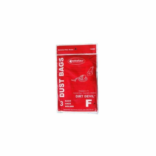 12 Royal Dirt Devil Canister Type F Allergy Vacuum Bags Power Pak Vacu Can Vac