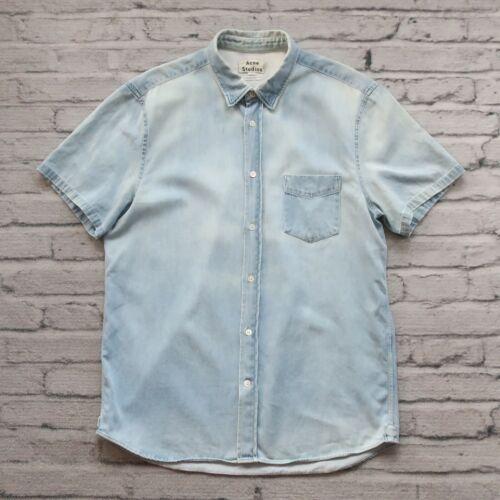 Acne Studios Short Sleeve Shirt Size M Distressed