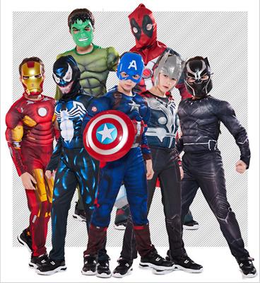 Boy Kids The Avengers Superhero Book Week Cosplay Costume Fancy Dress Kids Gift