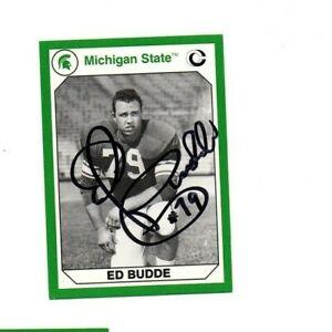 Ed Budde Michigan State MSU Spartans football signed card Kansas City Chiefs b