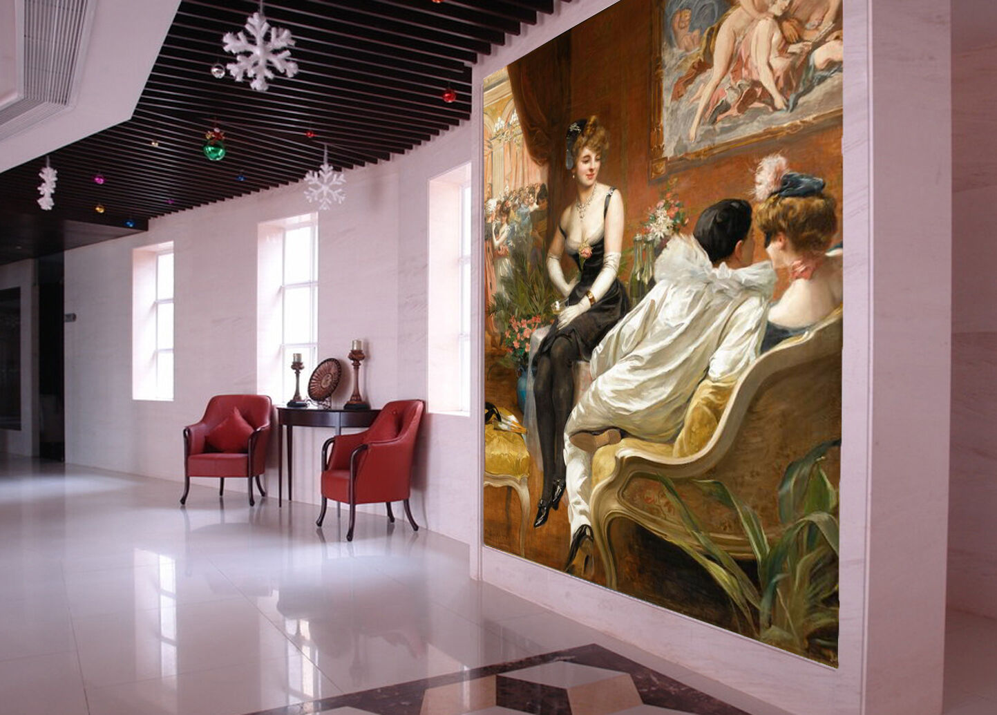 3D Party Pretty Woman 03 Paper Wall Print Wall Decal Wall Deco Indoor Murals