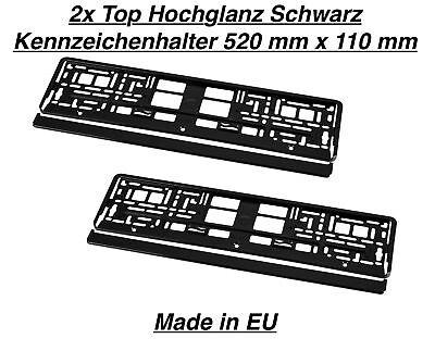 2x Kennzeichenhalter Nummernschildhalter Edelstahl Chrom Rostfrei Made in EU 03