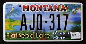 MONTANA-034-FLATHEAD-LAKE-WILDLIFE-BIRD-034-MINT-MT-Specialty-License-Plate