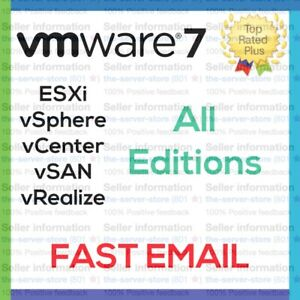 VMware ESXi vSphere 7 Enterprise Plus License Key Code All Servers FAST EMAIL ⚡️