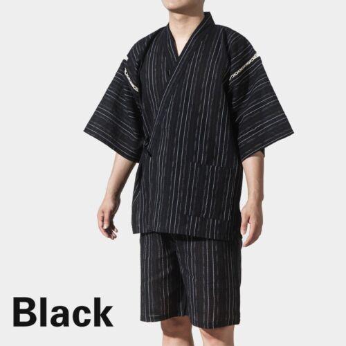UOMO GIAPPONESE Pigiama Set Yukata Jinbei tradizionale Kimono