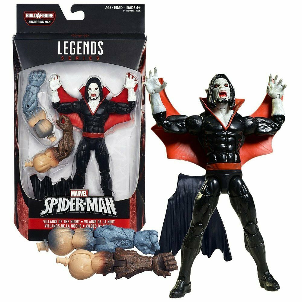 NEW MARVEL LEGENDS MORBIUS SPIDER-MAN SERIES BAF ABSORBING MAN FIGURE BY HASBRO