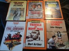 Large Lot Western Books Big Print Used (old Library) 4 Hardback 2 Soft Back Look