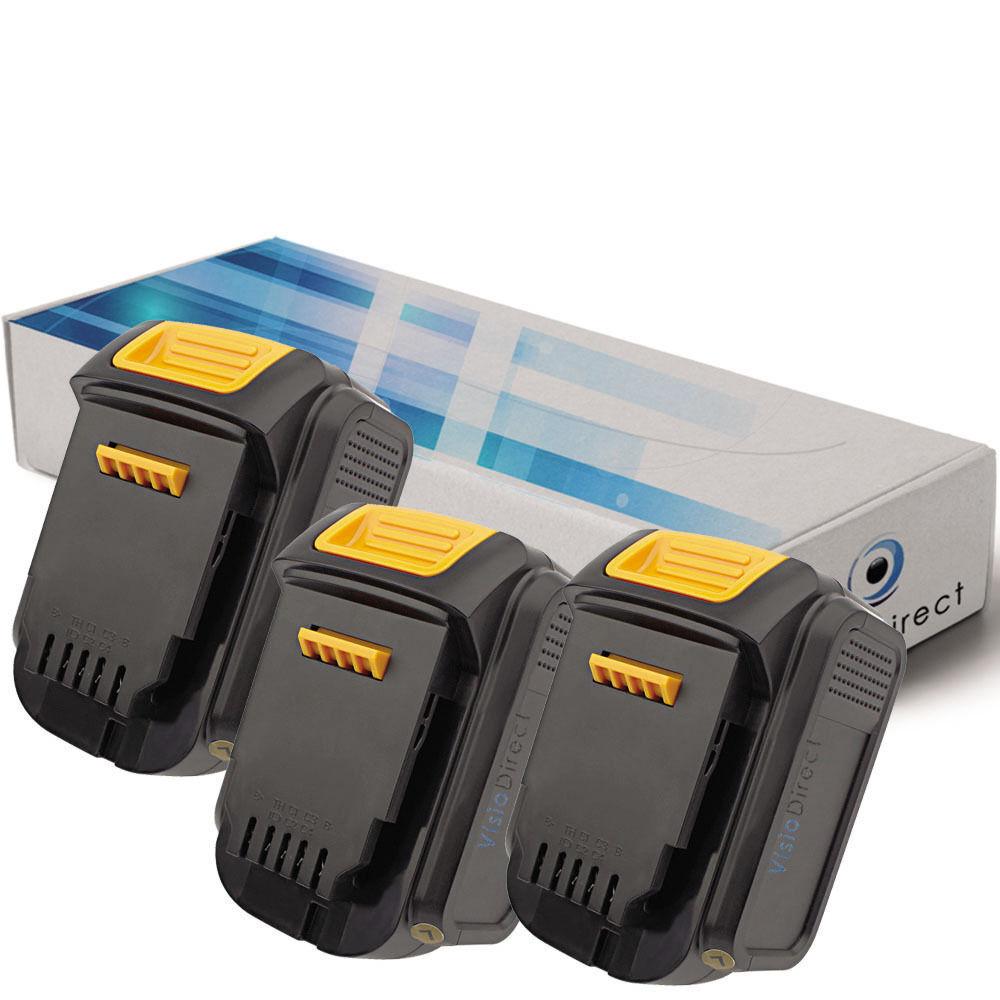 Lot de 3 batteries 14.4V 3000mAh pour Dewalt DCD730C2- Société Française -
