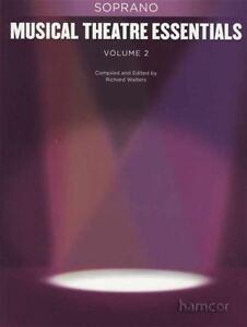 2019 Nouveau Style Théâtre Musical Essentials Soprano Volume 2 Vocal Piano Music Book-afficher Le Titre D'origine