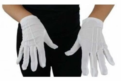 Adult Ladies Child Girls Stretch Wedding Short White Gloves Holy Communion Prom