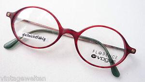 Vogue Markengestell Kunststoff-Bri<wbr/>llen rot ovale Form leicht Fassung Grösse M