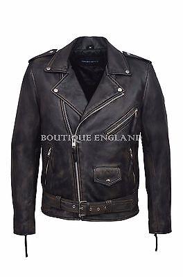 Men/'s Slim Fit BLACK Designer BRANDO Fitted Real Soft Lambskin  Biker Jacket