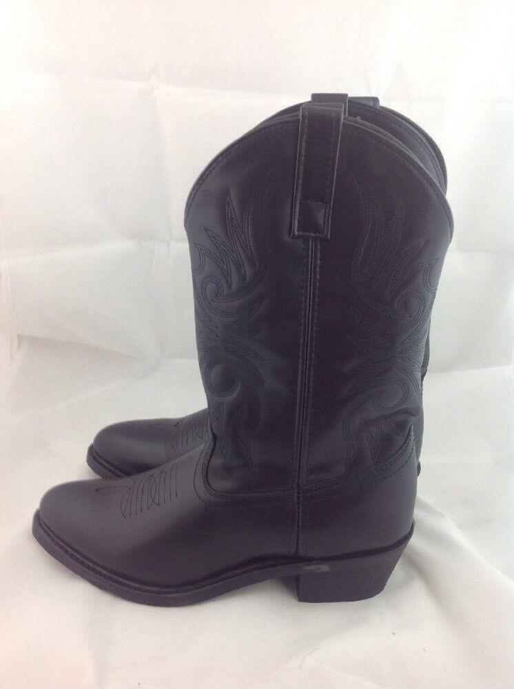 Larossoo Mens Paris Western Cowboy Stitched Leather Cushioned  Insole nero  ottima selezione e consegna rapida