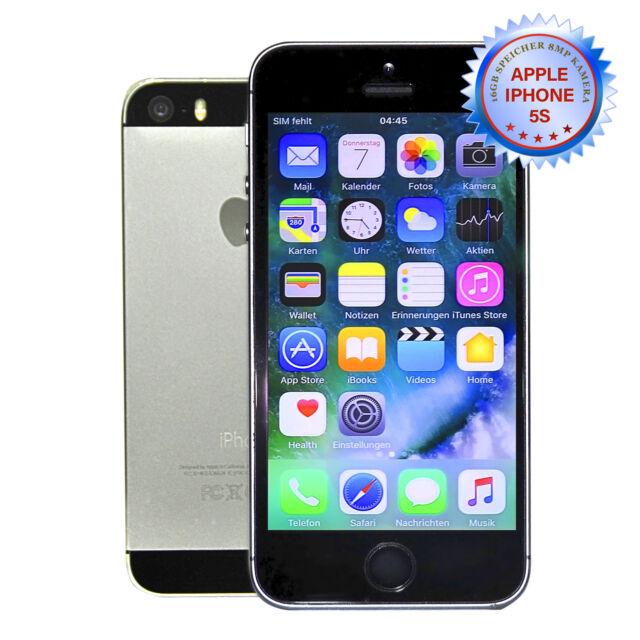 Apple iphone 5s 16GB Gris Espacial (Libre) Teléfono Inteligente. Cuenta con Mwst