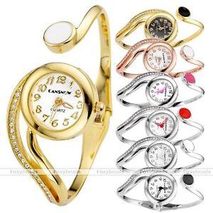 Elegant-Women-Round-Cuff-Bangle-Bracelet-Crystal-Rhinestone-Quartz-Dress-Watch