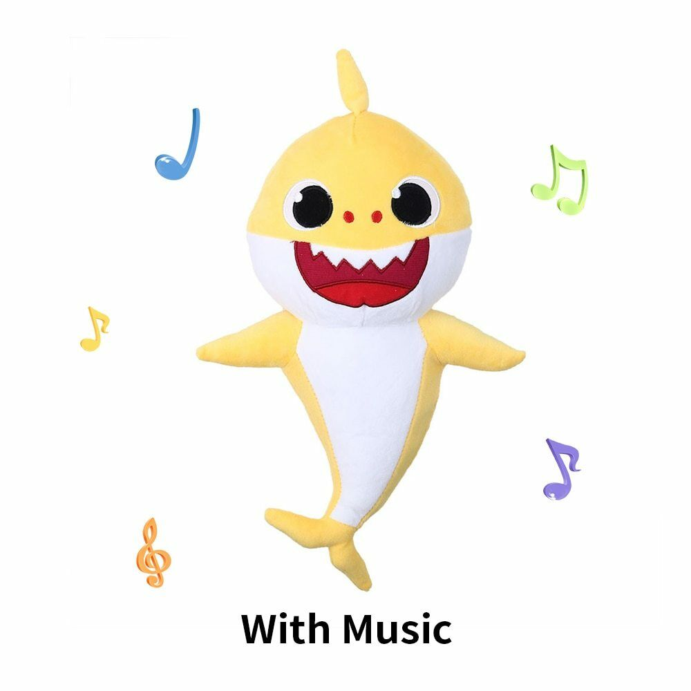 30CM LED Sing Song Baby Shark Pulsh Doll Toys PinkFong Soft For kids baby Gift 7