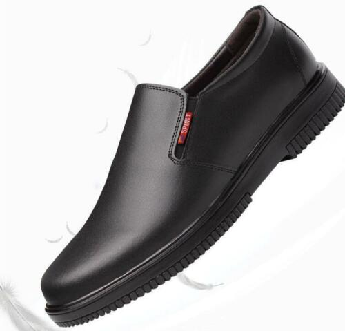 Mens round toe slip on Water-proof Chef Cook Kitchen Nonslip Safety Work Shoes