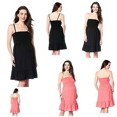 Black Maternity M NWT Oh Baby by Motherhood Smocked Tube Dress Medium