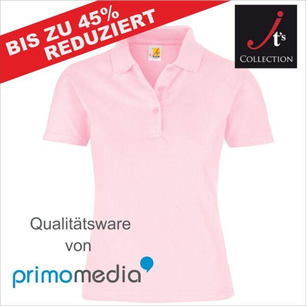 Poloshirt Hochwertig Damen Frauen Schwarz Weiß Rosa Bedruckbar Sportlich Günstig